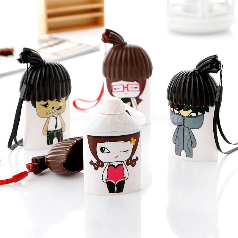 Cartoon Girl Boy Portable Mini Fan Small Fan (K1030)