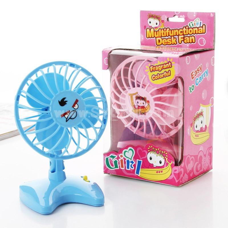 Mini Fan Desk Small Fan 2×AA Batteries Creative (K0959)