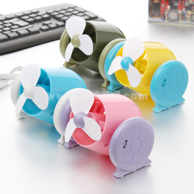 Mini Fan Cannon Shape USB & Battery Powered Fashion Creative (K1107)