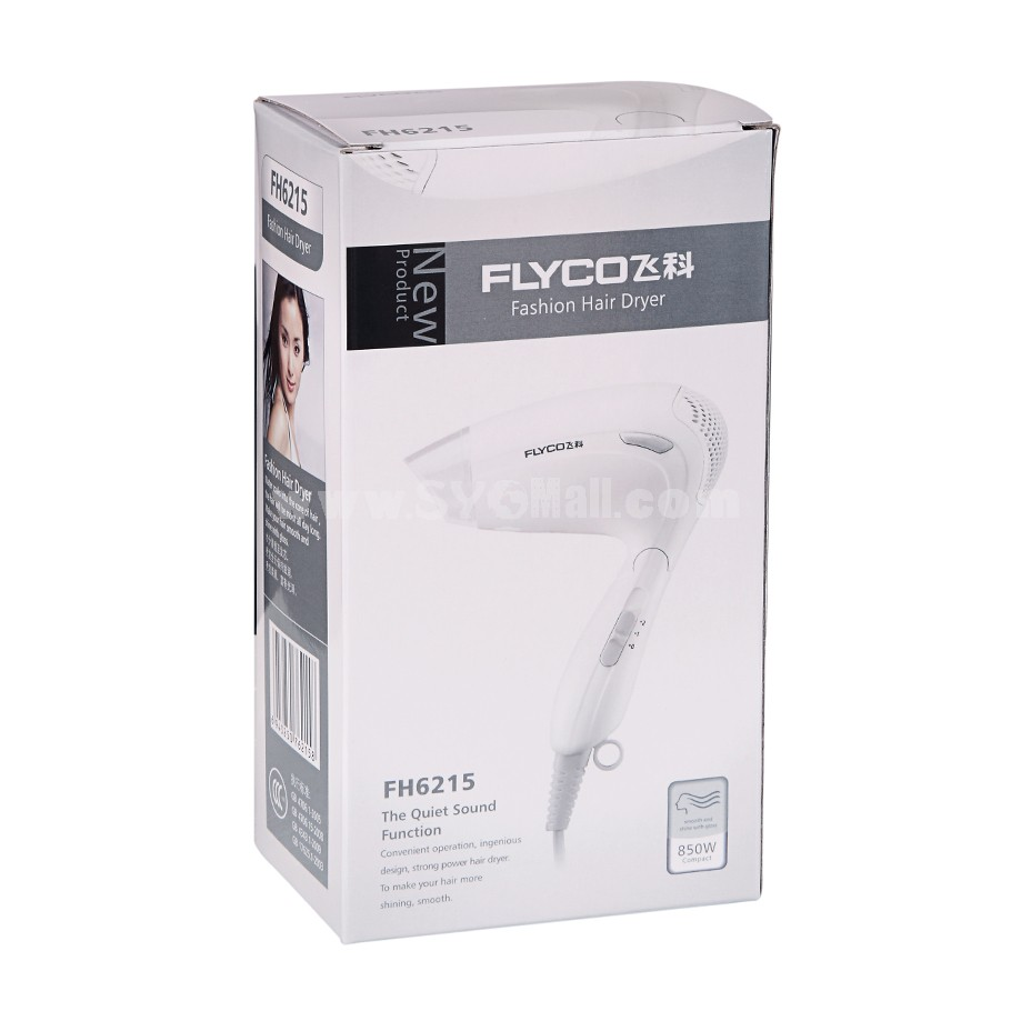 Flyco Electric Hair Dryer with Foldable Handle Constant Temperature 850 W (FH6215)