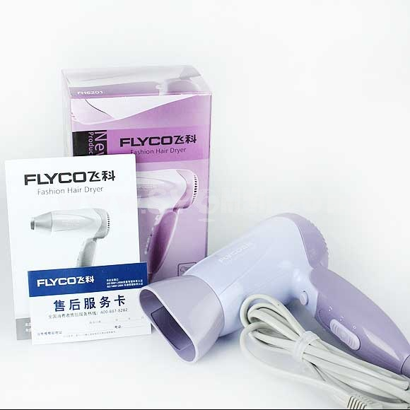 Flyco Electric Hair Dryer with Foldable Handle 1200 W (FH6201)