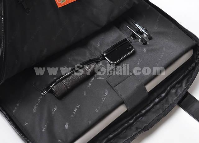 Patent-leather Lattice Pattern Shoulder Bag