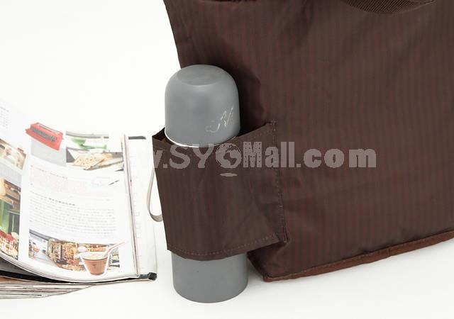 TULLY COFFEE Stitching Extra Thick Handbag