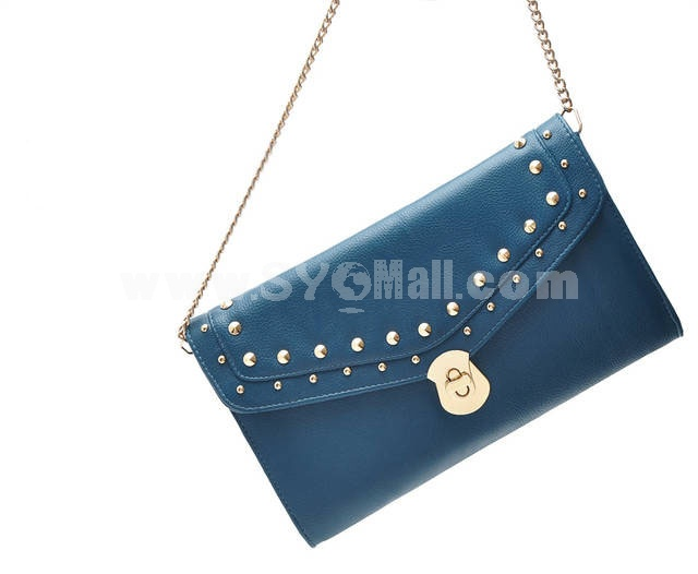 Joker Rivet and Chain Decoration Shoulder Bag