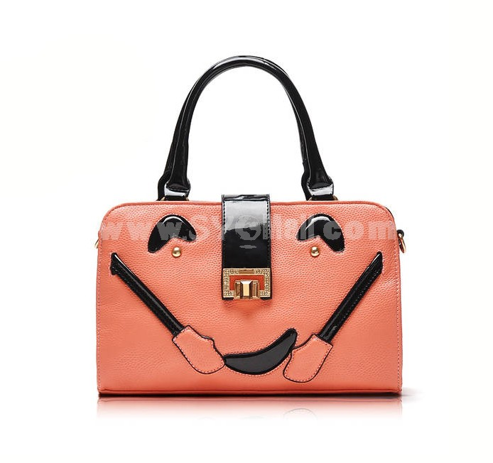 Fashion Sweets Color Cute Smile Face Motorcycle Bag