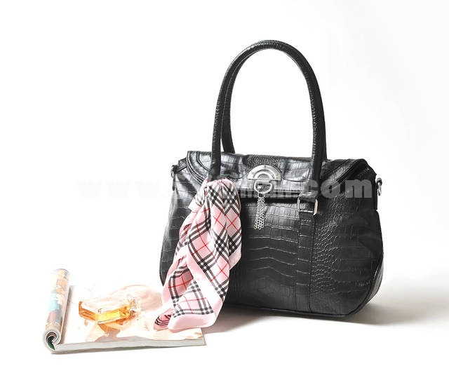 Classic Modern Style Shoulder Bag with 7 Silk Scarf