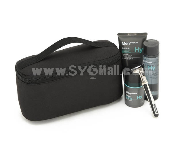 Simple Style Cosmetic Bag Black