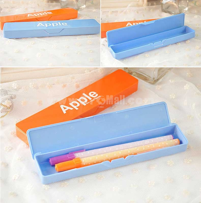 Pencil Box Apple Printing Candy Color (W2132)