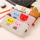 Wholesale - Pencil Bag Stationery Bag Cartoon Kitty Style Canvas Lovely (P2484)
