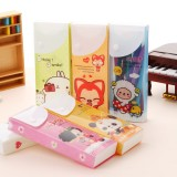 Wholesale - Pencil Box Stationery Pull-Out Design Cartoon Printing PVC (K1043)