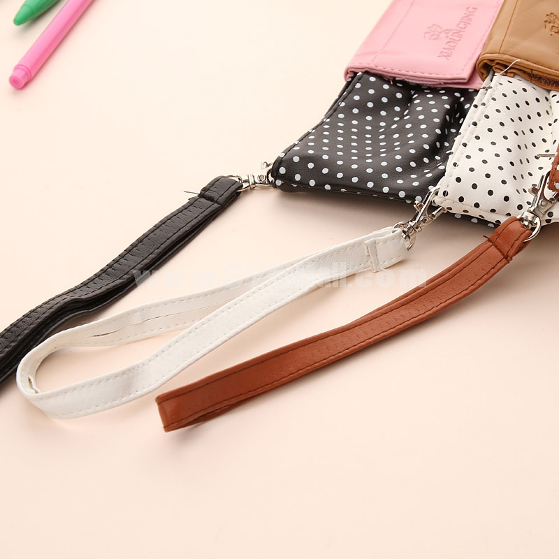 Pencil Bag Stationery Bag Lovely Bow-Tie Design PU (W2142)