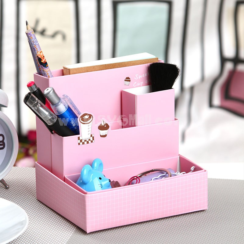 Desktop Storage Box Paper Folding DIY Pink (SN043)