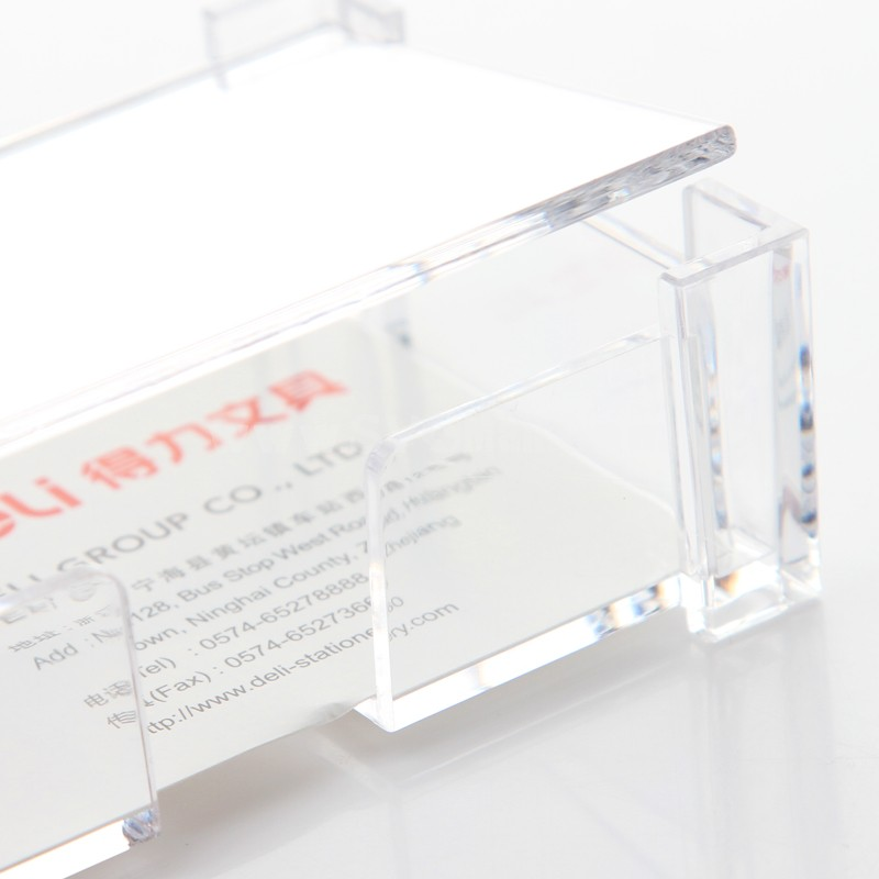 DELI Business Card Box Transparent Large Capacity Commercial Fashion (W2126)