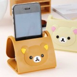 wholesale - Rilakkuma Cellphone Holder Foldable Lovely Bear Style PVC (K0667)