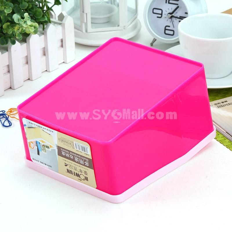 Desktop Storage Box Multi-Purpose Aesthetic Practical ABS (F6071)
