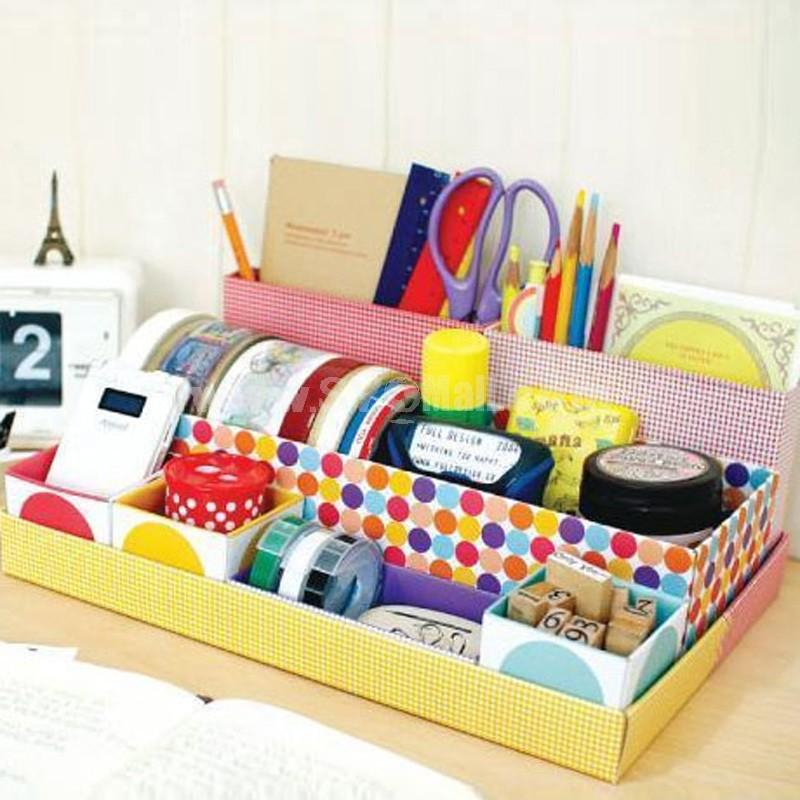 Desktop Storage Box Multi-Purpose 7 Cells Paper DIY (I9269)