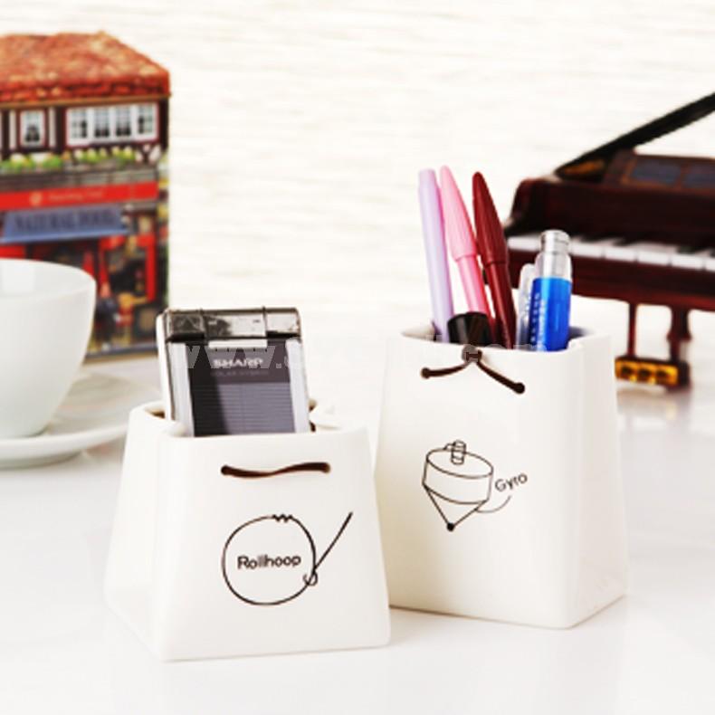 Ceramic Pen Holder Storage Cup / Pot / Creative (K1034)