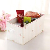 Wholesale - Storage Box Sundries Box Assembled with Floral Rims Non-Woven Fabric (SN2045)