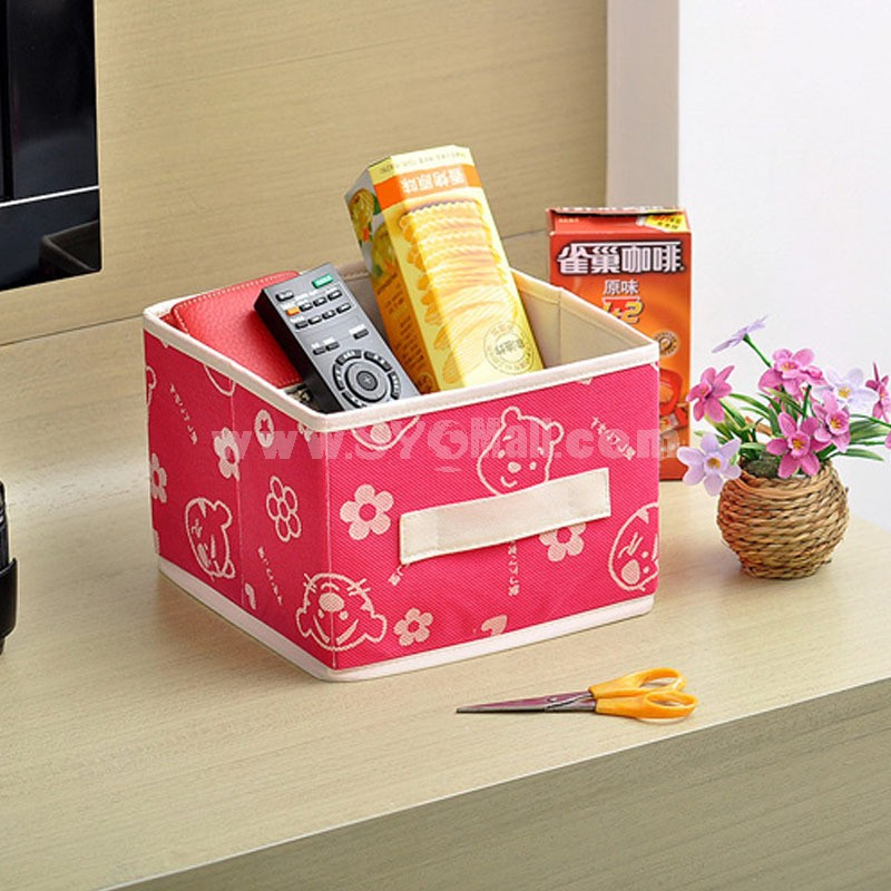 Storage Box Sundries Box Cartoon Style Foldable Non-Woven Fabric (SN116)