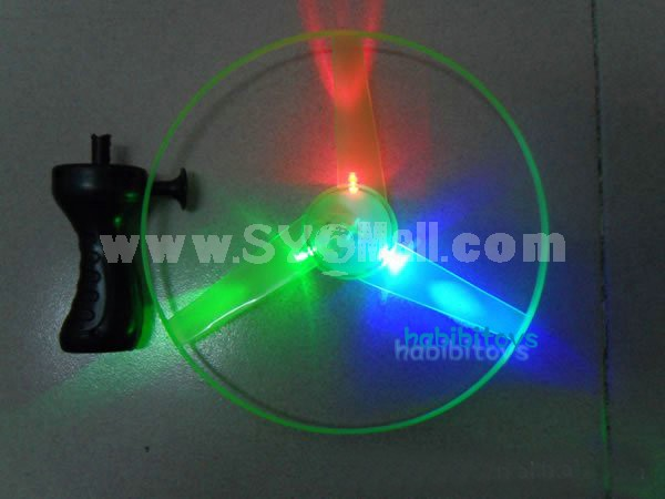 Funny Colorful LED Light Up Flying Disc Toy Dia 10in