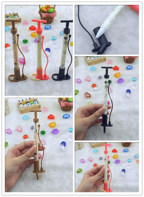 Pump Shaped Ball Pen 3pcs