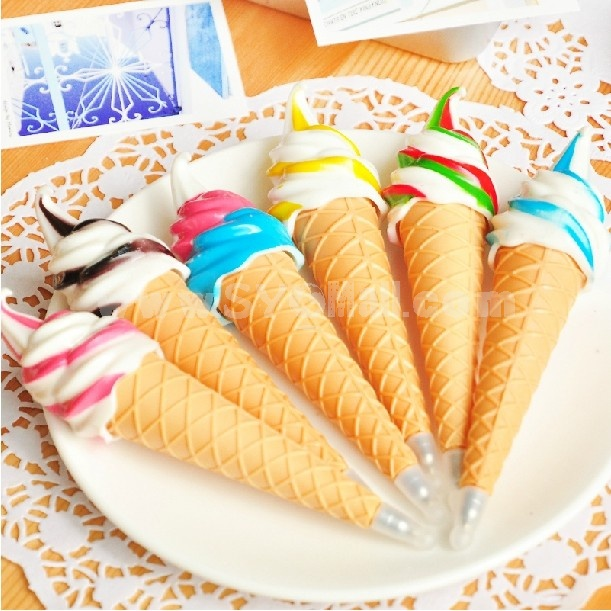 Creative Ice Cream Shaped Magnetic Ball Pen 3pcs
