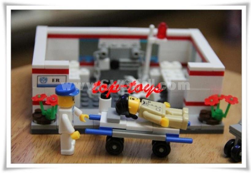 WANGE High Quality Blocks Hospital Series 157 PcsLEGO Compatible 27166