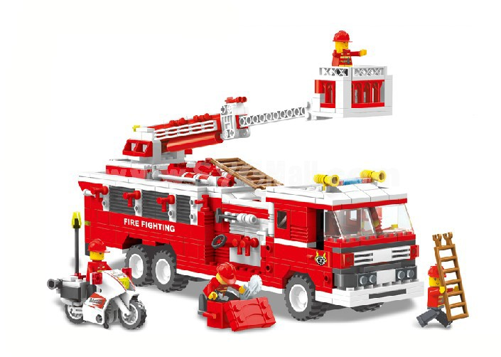 WANGE High Quality Blocks Fire Station Series 567 PcsLEGO Compatible 33021N