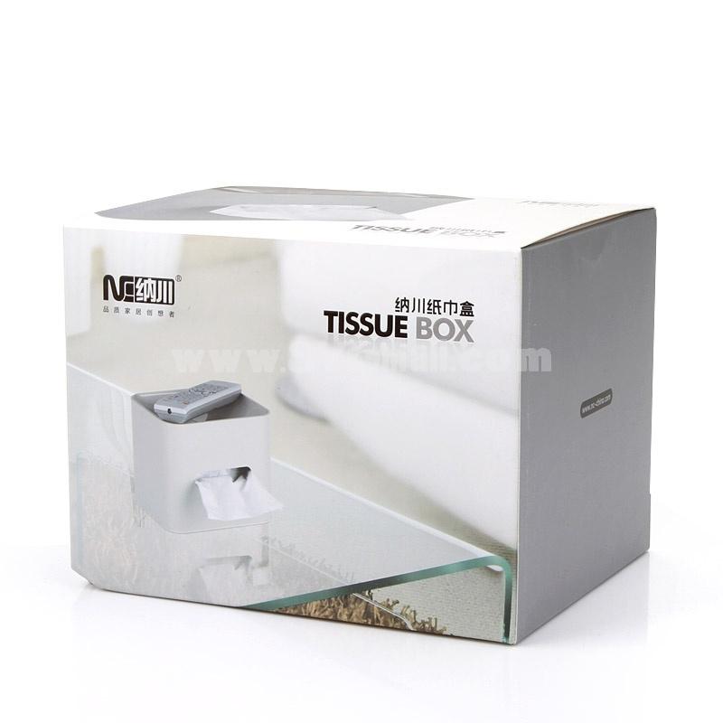Tissue Box Storage Box Multi-Purpose Brief Pure ColorABS (K1001)