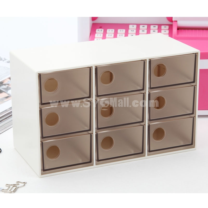 Storage Box Sundries Box Drawer Jewelry 9 Cells  (E9005)