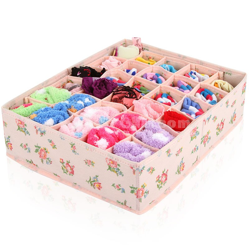 Storage Box for Underwear Socks Non-Woven Fabric 30 Cells (SN175)