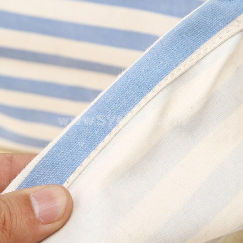 Storage Basket Box Stripes Pattern Cotton&Linen Candy Color Big Size (SN1473)