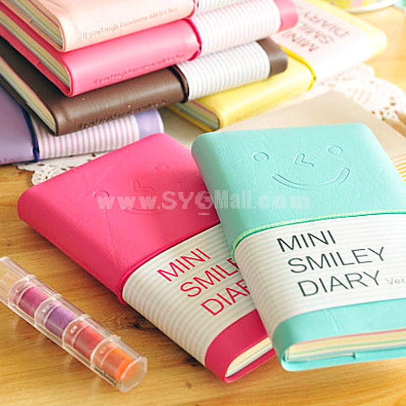 Mini Smiley Diary Journal Notebook Notepad 4-Pack (W1661)