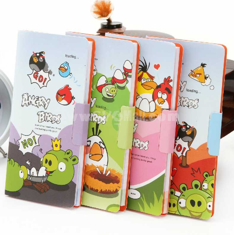 Mini Notebook Notepad Angry Birds Style 4-Pack (W1707)