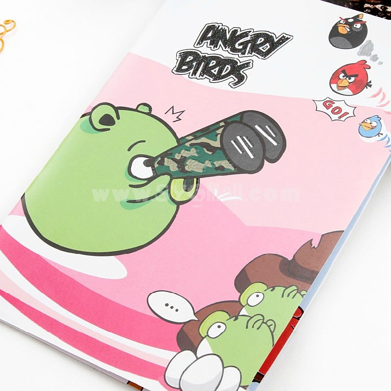Notebook Notepad Angry Birds Style Soft Cover 5-Pack (W1808)