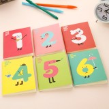 Wholesale - Cute Mini Journal/Notebook/Notepad  with Number Design 12-Pack (W2119)