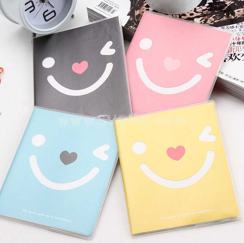 Emotion Diary Mini Smiley Color Notebook Notepad 4-Pack (W1809)