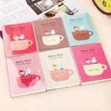 Wholesale - Cute Mini Journal/Notebook/Notepad  Milk Tea, 4-Pack (K0151)