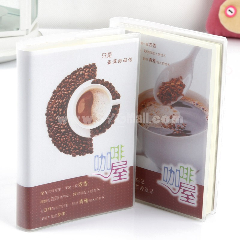 Mini Notebook Notepad Coffee House Theme  (W2023)