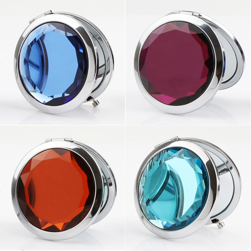 Makeup Mirror Crystal Double Faced Foldable (K0671)