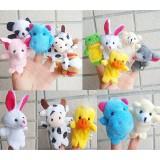 wholesale - Cartoon Finger Puppets Animal Design 5-Pack