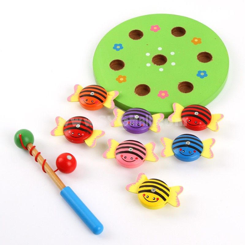 Magnetic wooden Fishing Toy Educational Toy (E7438)