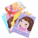 Wholesale - Storage Bag/Pouch for Files/Magnizes Lovely Girl Cartoon PVC 5-Pack (K0405)