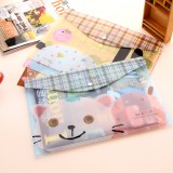 Wholesale - Storage Bag/Pouch for Files/Magnizes Cartoon Animal Design PVC 5-Pack (W2124)