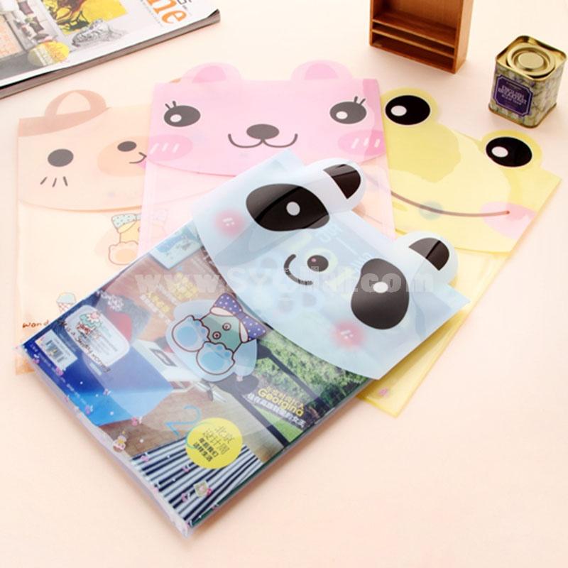 Storage Bag/Pouch for Files/Magnizes Cartoon Animal Design PVC 5-Pack (W2124)