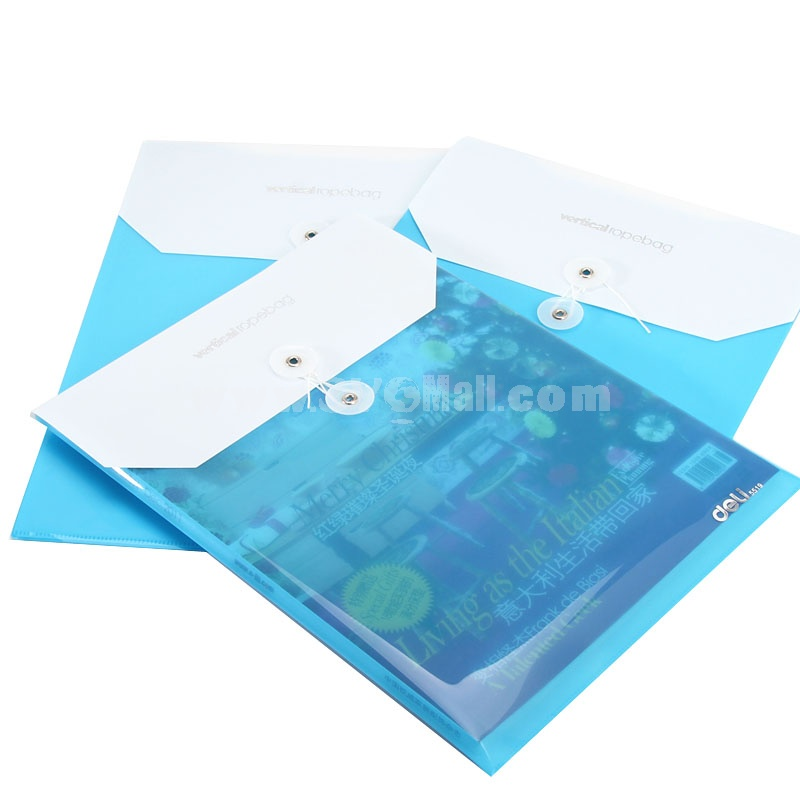 Storage Bag/Pouch for Files/Magnizes A4 Blue&White PVC 5-Pack (W2059)
