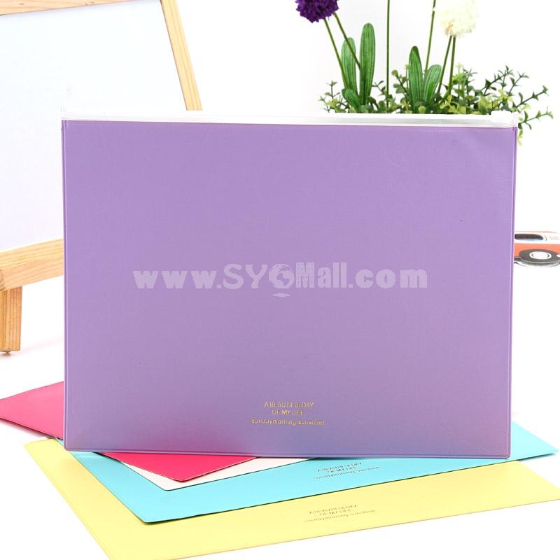 Storage Bag/Pouch Dermatoglyphic Candy Color Big Size PU 4-Pack (SN1163)