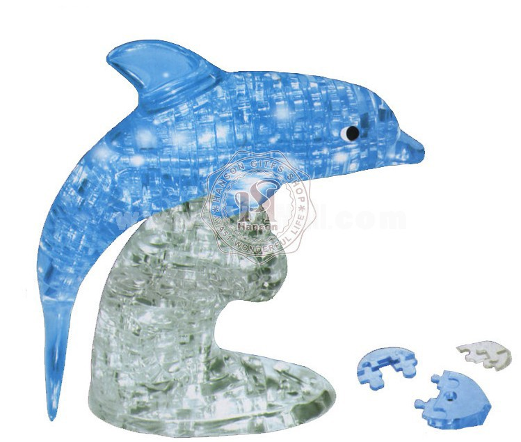 95-in-1 3D Dolphin Crystal Jigsaw Puzzle