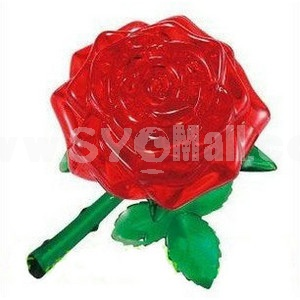 44-in-1 3D Rose Crystal Jigsaw Puzzle 2Pcs