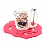 Wholesale - Stylish Simple Pattern Rose Coaster 2PCs